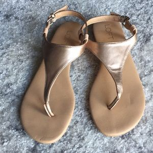 Rose gold thong sandal